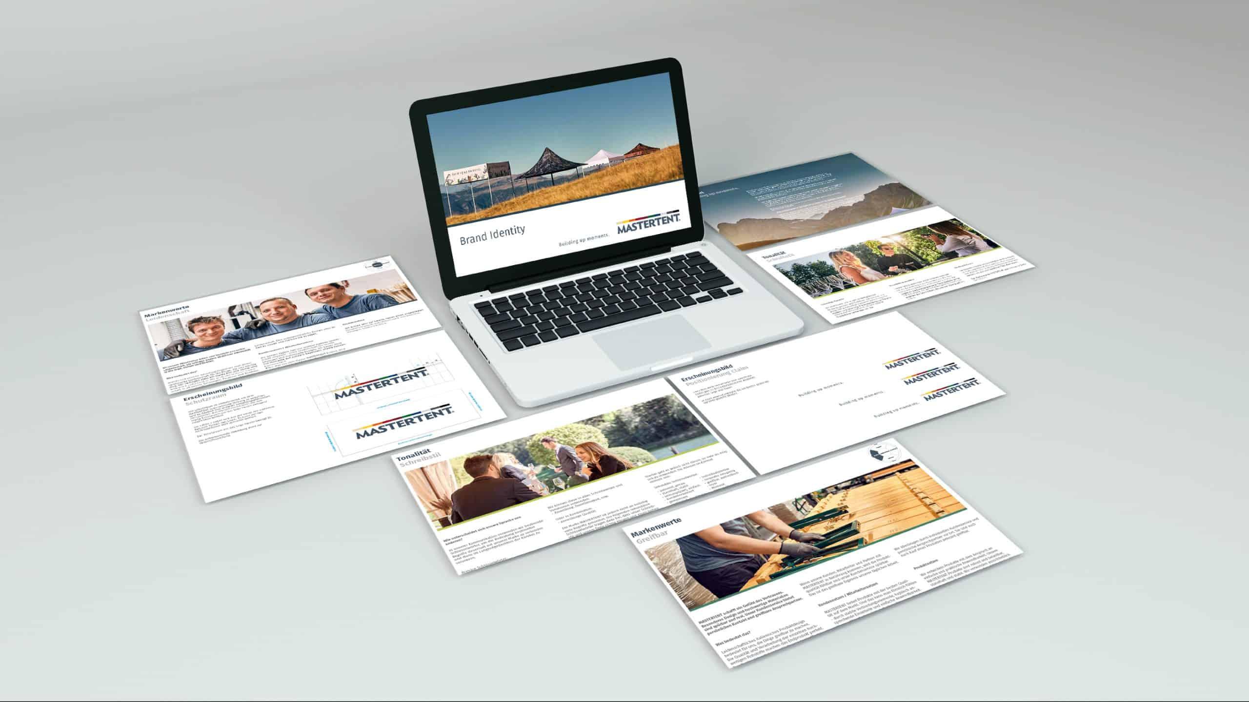 Wir gestalten deinen Design Guide oder Powerpoint Präsentation. Inkl. Animation und Illustration.