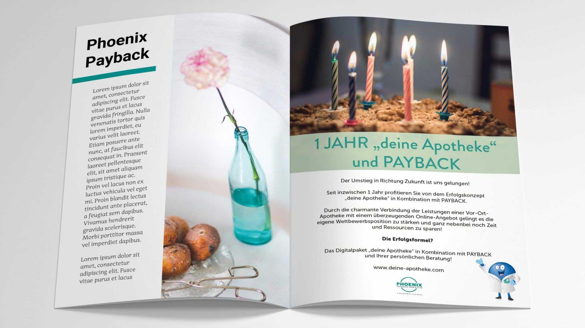 Magazin Werbeanzeige Payback und Phoenix