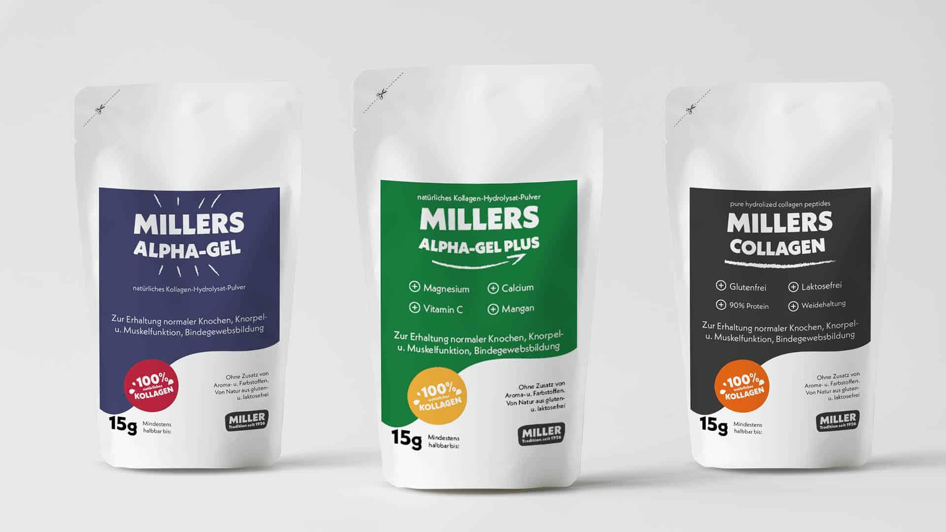 MILLERS Collagen Produktdesign | BONFIRE GmbH | Branding Familienunternehmen
